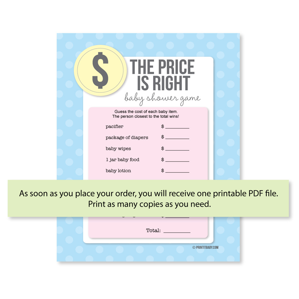 Fullsize Of Price Is Right Baby Shower Game