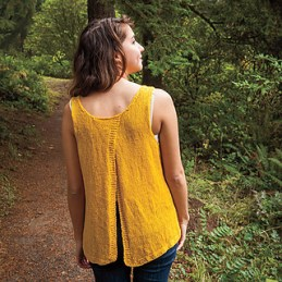 Split Back Tank by Allison Griffith, copyrith by Knit Picks