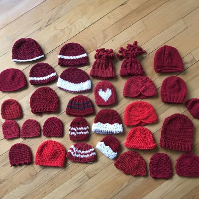 30 Hats made for Little Hats, Big Hearts