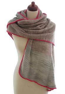 Liebling & Schätzchen Schal von Jana Borrack: kraus rechts gestrickter Schal mit I-Cord Umrandung in Kontrastfarbe, free pattern, kostenlose anleitung