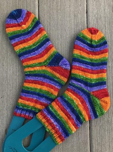 Nutmegknitter's Rainbow Oops socks
