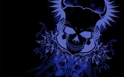 Blue skull HD Wallpaper | Background Image | 1920x1200 | ID:180538 - Wallpaper Abyss