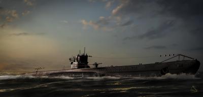 U-boat surfaced Fond d'écran HD | Arrière-Plan | 2500x1196 | ID:296988 - Wallpaper Abyss