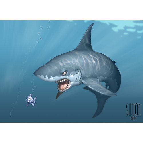 Medium Crop Of Great White Shark Wallpaper