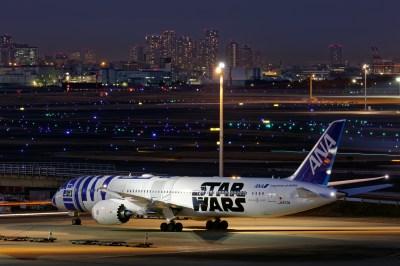 Boeing 787 Dreamliner in the R2-D2 Star Wars livery Tapeta HD | Tło | 1920x1280 | ID:721880 ...