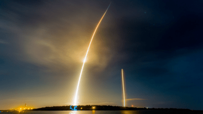 Long Exposure of SpaceX Launching and Landing HD Wallpaper | Background Image | 1920x1080 | ID ...