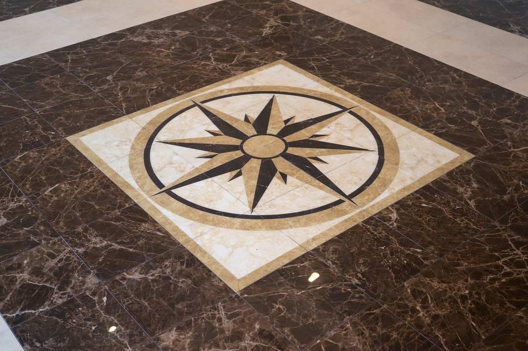 Floor medallions tile