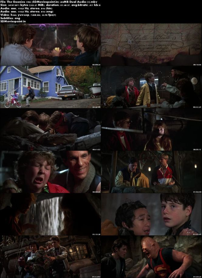 Screen Shots The Goonies 1985 300MB Movie Download Dual Audio HD Free