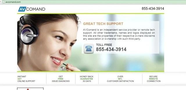 Avcomand.com pop-ups