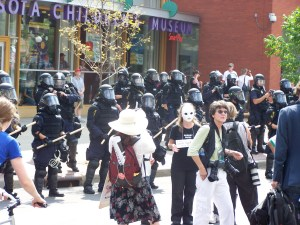 protection for the non-violent march?
