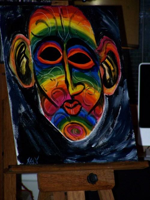 """""""Face of God"""" - oil, 16 in X 20 in"""