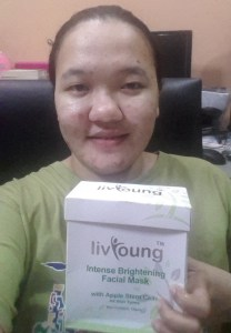 LivYoung Intense Brightening Facial Mask with Apple Stem Cells