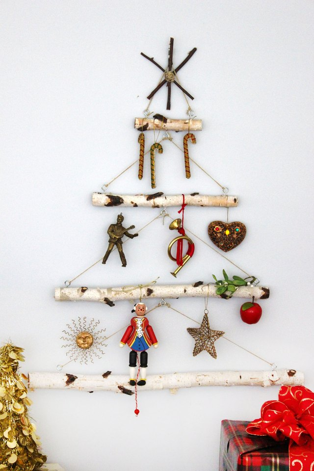 Birch Branch Christmas Tree Tutorial   eHow Step 9  Decorate the Tree  Hang the birch branch