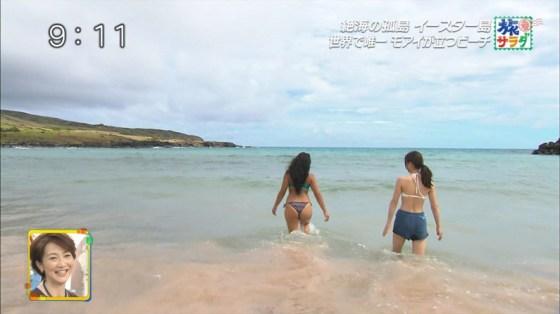【お尻キャプ画像】今から夏が待ち遠しい、テレビに映る水着からはみでるお尻が見たいんやww 23