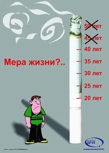 Плакат против курения