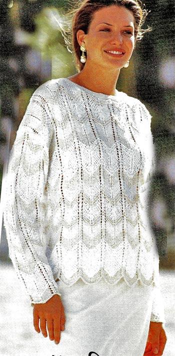 пуловер с зигзагообразным узором