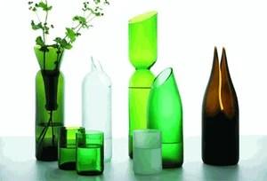 хендмейд из стеклянных бутылок
