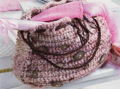 сумка крючком схема вязания
