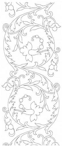 трафареты для росписи  - узор растения