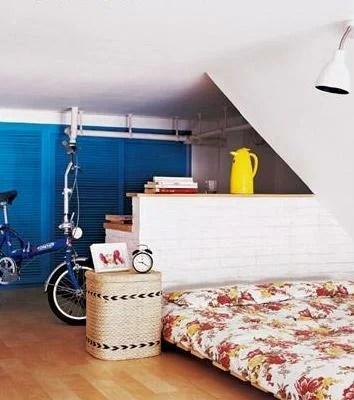 бело-голубой декор интерьера