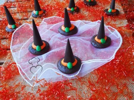 Receta de gorros de bruja para halloween
