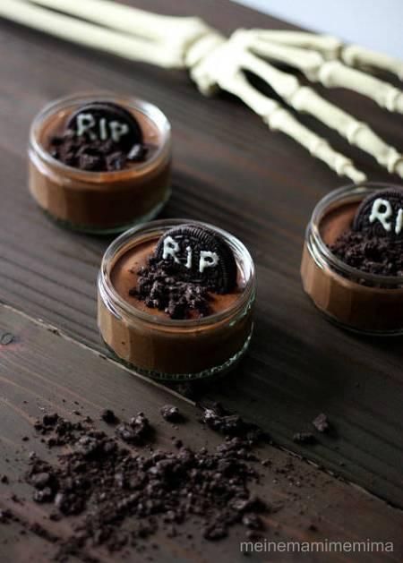 Receta de mousse de chocolate terrorífica para Halloween