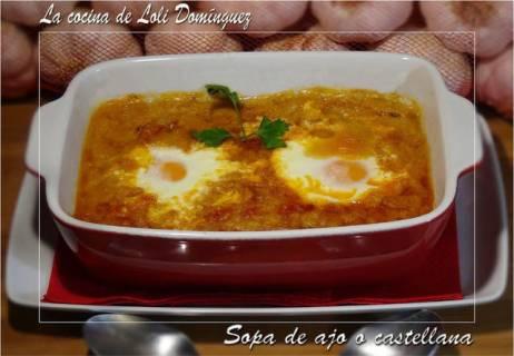 Sopa de ajo o sopa castellana