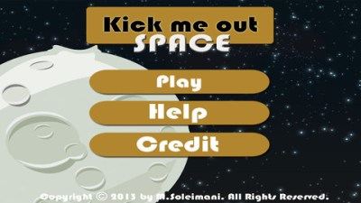 kick me out space App for iPad - iPhone - Games