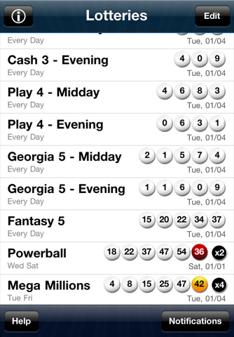 LottoSuite - Georgia Lottery Results App for iPad - iPhone