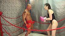 UIWP ENTERTAINMENT in MMA Belly Punching Match man vs women INTERGENDNER Match
