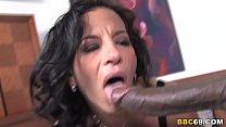Busty Cougar Melissa Monet Takes Roco Strong's Big Black Cock