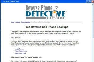 Download Reverse Telephone Lookup Tool | LisoSoft