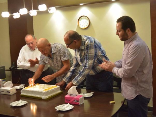 الاحتفال بعيد ميلاد اشرف عبد الباقى