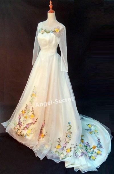 PP305 Movie Costume Cinderella 2015 Ella wedding bridal ...
