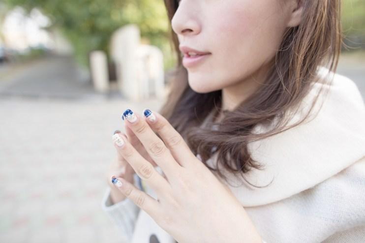 【光療】華麗內斂的時尚深藍色♥·•妤蘋美甲美睫概念店