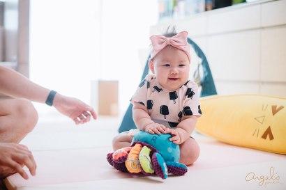 【成長紀錄】Riley寶寶滿6個月了❤自己坐、自己玩、學習喝水、嘗試自主餵食