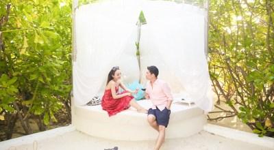 【2015蜜月】Velassaru♡超浪漫沙灘晚餐Island Dining以及一周一次免費的酒類暢飲