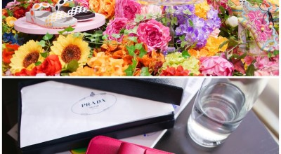 【2015蜜月】杜拜買精品,逛逛世界最大The Dubai mall,戰利品Prada Saffiano蝴蝶結皮夾♡