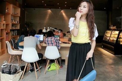 ▌穿搭 ▌Chic korea活潑可愛,踏著輕快腳步的午後時光‧下