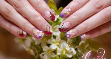 【指彩】櫻花紛飛的季節~ 我的心已飛向日本❤潔月兒藝術美甲