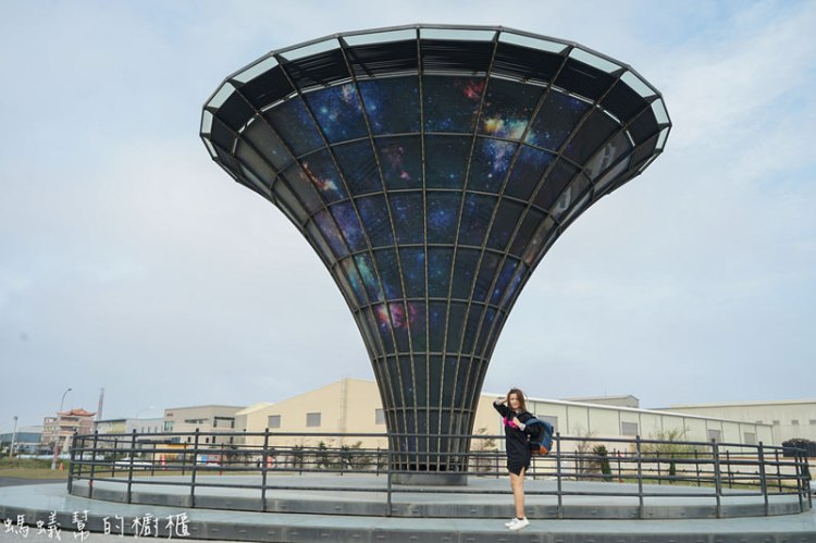 鹿港宇宙塔媽祖玻璃廟|鹿港工業區新地標,鹿港IG打卡推薦點,順道一起逛玻璃媽祖廟。