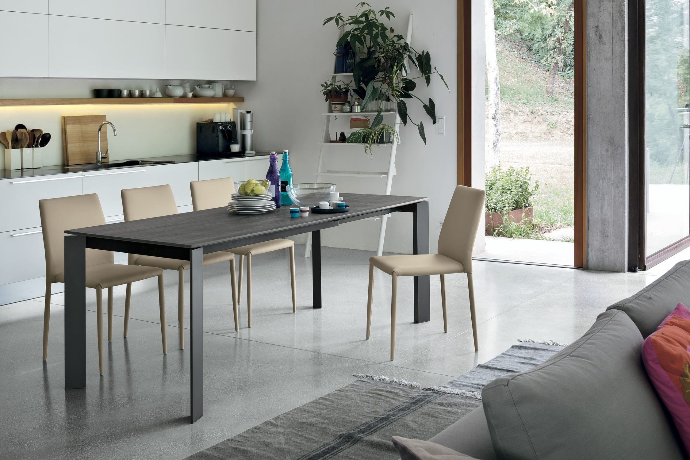 product laminate kitchen table Dining table contemporary porcelain stoneware laminate SATURNO Target Point New