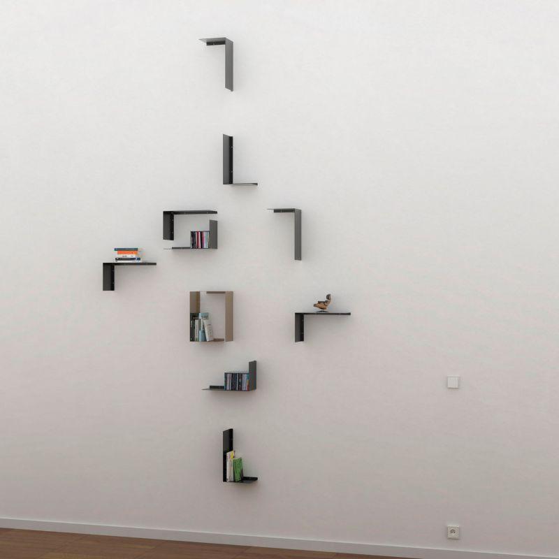 Large Of Modern Metal Wall Shelf