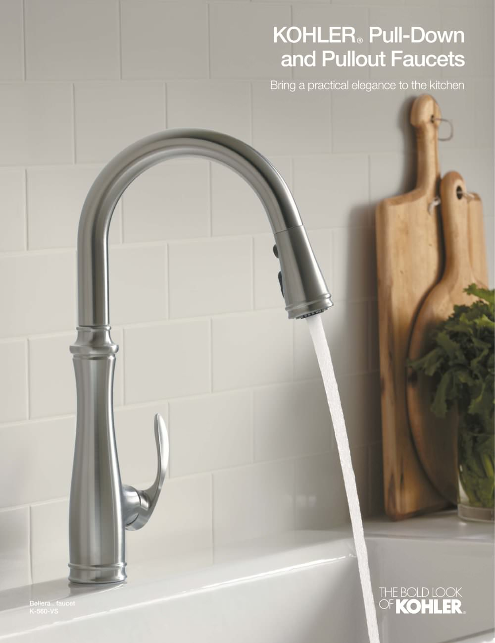 kohler kitchen faucet Kitchen Faucet Brochure Pulldown Pullout 1 4 Pages