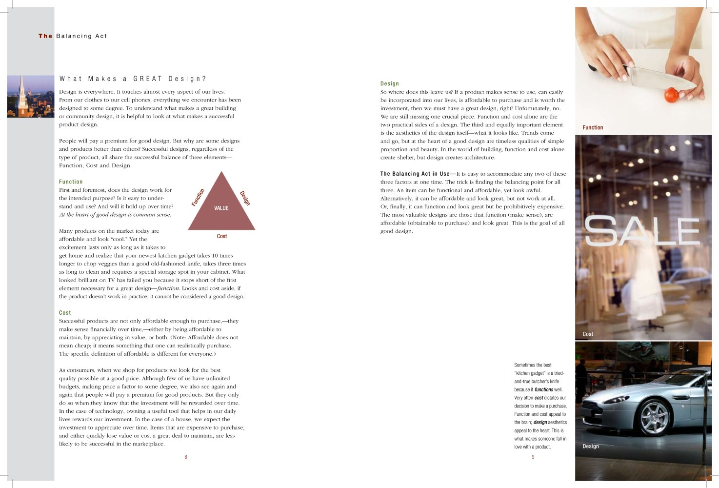 The Balancing Act  What Makes a Great Design   James Hardie   France     The Balancing Act  What Makes a Great Design   1   3 Pages