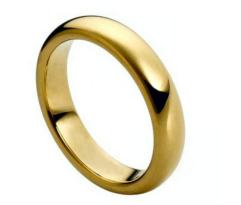 wedding rings ebay Tungsten Carbide 18k Gold Dome Wedding Engagement Band