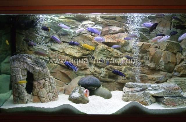 AQUARIUM BACKGROUNDS FOR FISH TANK 3D Thin Grey 1cm thick   MANY SIZES