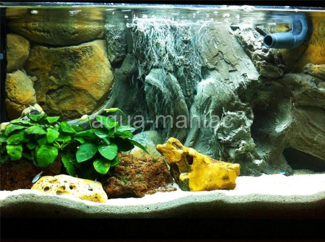 AQUARIUM FISH TANK BACKGROUND 3D AMAZON ROOT ROCK STONE FIT TANK SIZE