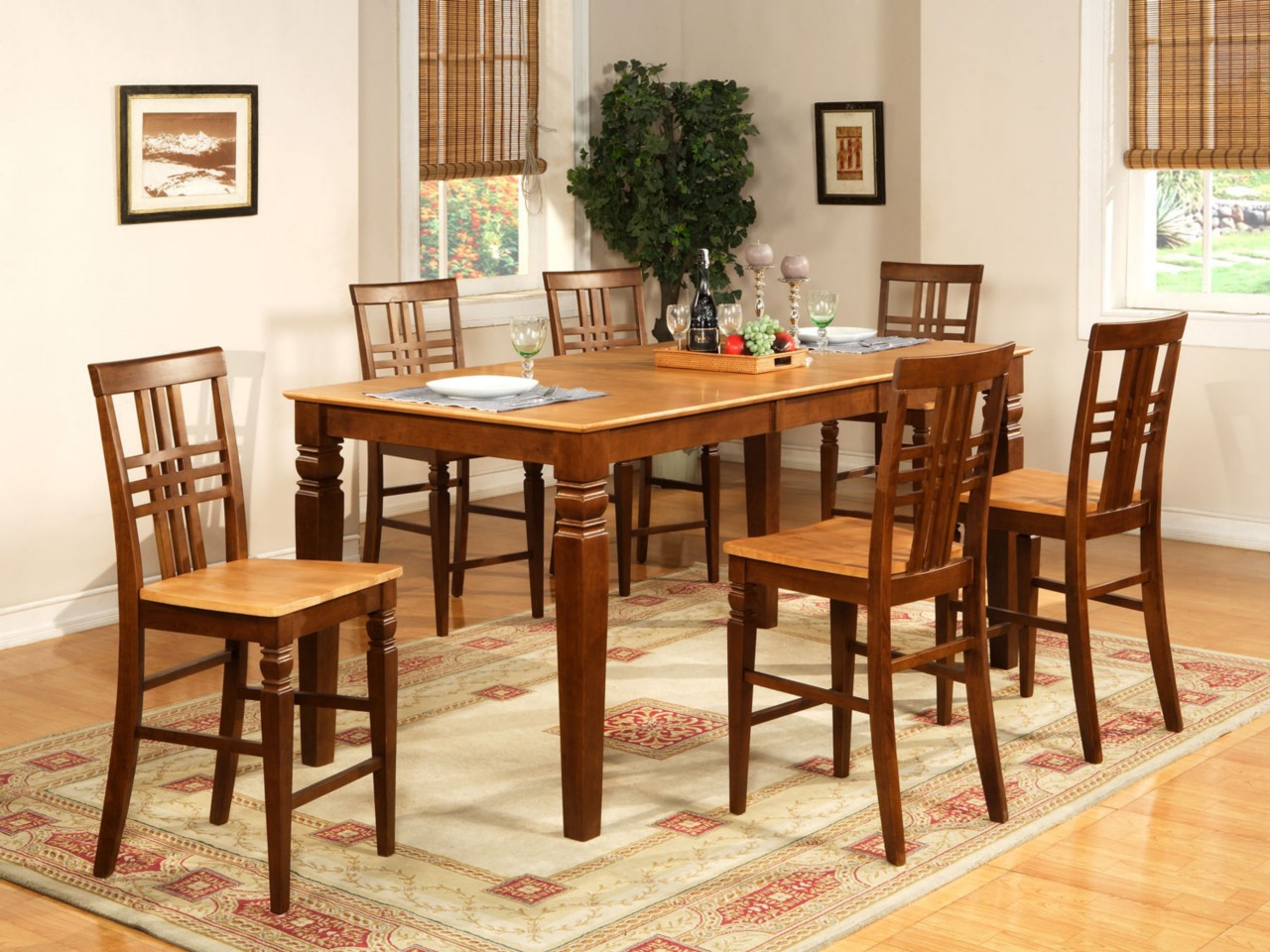 counter height table jofran dining set kitchen table efurnituremart bar height kitchen table 9PC DINETTE KITCHEN COUNTER HEIGHT TABLE WITH 8 CHAIRS IN ESPRESSO