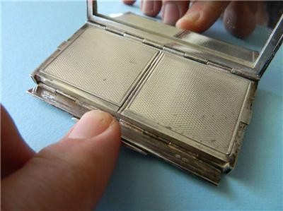 Art Deco Sterling Silver Powder & Rouge Compact Enamel French London Import 1925 | eBay
